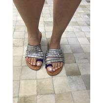 Rasteirinha Preta Pedra Marca Leluel Shoes Inspiração Schutz