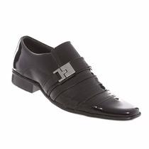 Sapato Social Masculino Gofer Couro Legítimo Verniz 0232
