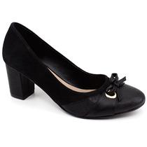 Sapato Em Couro Nobuck Steffani 66834 Pixolé Calçados