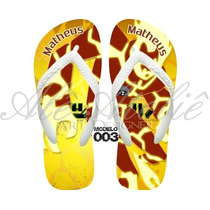 Sandálias Chinelo Havaianas Personalizadas Ben10 Omnitrix