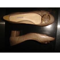 Sapato Fechado,cinza,salto Quadrado,tam 36-corello