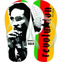 Chinelos Exclusivos Personalizados Havaianas Bob Marley