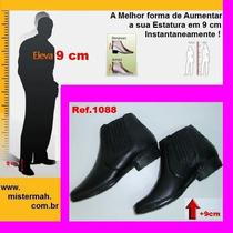 Sapato Com Salto Invisivel 9cm Couro Mistermah Masculino