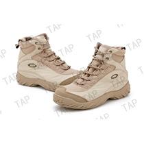 Bota Coturno Tático Oakley Boots Desert Militar Preto Marrom