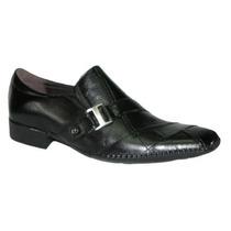 Sapato Preto Masculino Esporte Fino Em Couro Legítimo