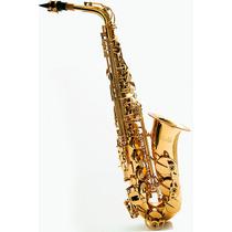 Sax Alto Mib Dourado (novo) Nota Fiscal + Garantia