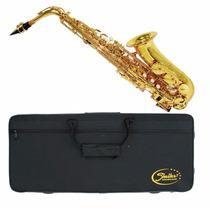Saxofone Alto Shelter Laqueado Sgft6430l Dourado Eb Com Case