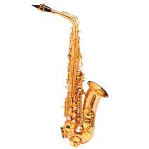 Saxofone Alto Michael Wasm48 Dual Gold Acompanha Pad Save E