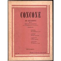 40 Lições Canto Concone Para Baixo & Barítono Piano Canto