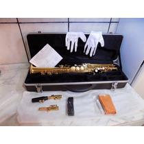 Sax Soprano Waldman Wss Gd - Novo - Completo Com Estojo