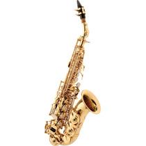 Saxofone Soprano Curvo Sib Laqueado Eagle Sp508 Liquida