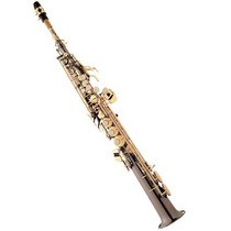 Saxofone Soprano Reto Eagle Sp502bg Em Sib Preto Onix + Case