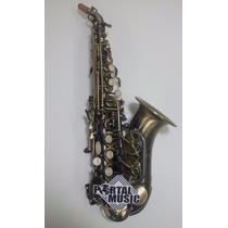 Sax Soprano Curvo Sopranino Jahnke Jssch001ev Envelhecido