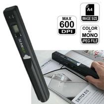 Scanner Portátil De Mão Iscan 600dpi Usb Sd 8g Brinde