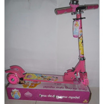 Patinete Infantil Princesas 3 Rodas- Pronta Entrega