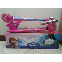 Patinete Infantil 2rodas Frozen Disney Rosa Scootersdobravel