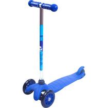 Patinete Twist 3 Rodas Freio Scooter Infantil Azul Bel 4094