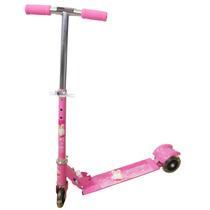Patinete Infantil 3 Rodas Scooter Brinquedo Com Roda De Led