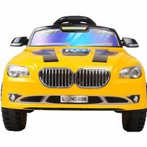 Carro Elétrico Infantil Amarelo Sportcar6v C/controle Remoto