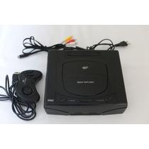 Sega Saturn Preto + 1 Controle Original + Cabo Av
