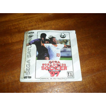 Manual Do Jogo Worl Widesoccer 97 Sega Saturno.