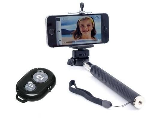 Monopod Selfie  Bastão + Controle Bluetooth Para Smartphone