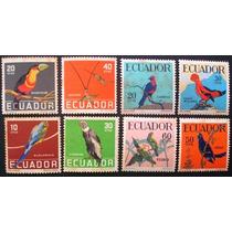 A6038 Equador - Fauna Aves Yvert Nº 632/5 + 644/7 Completa N
