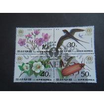 120 - Korea 4 Selos Sem Uso - 1992 - Fauna, Flora - Unep