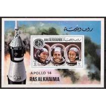 Ipê-968 - Ras Al Khaima - Astronáutica - Lindo Bloco.