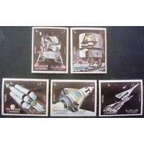 A5962 Sharjah Apolo 11 Série De 6 Valores Nn