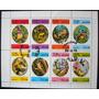 9187 Dhufar Fauna Aves Exóticas Série Completa Em Bloco De 8