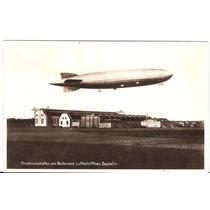 Graf Zeppelin-belo Postal De 1935-circulado Selo E Carimbo