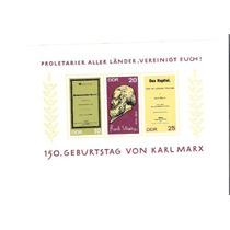 Lindo Bloco Da Alemanha - Karl Marx - Vejam A Foto !!!