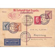 Zeppelin-postal Pré Franq. Criculado-1930-carimbos Raros