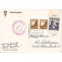Zeppelin-postal Circulado Na Alemanha Em 02.12.1938-carimbo
