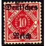 Col 10445 Alemanha Wurtemberg Serviços 131 Numerais U