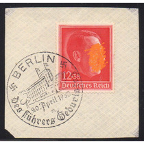 Alemanha - 1938 - Semi-postal - (sobre-fragmento + Carimbo)