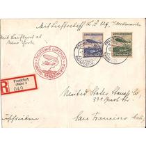 Zeppelin-envelpe Frankfurt Usa-bela Serie+carimbo Nordameka