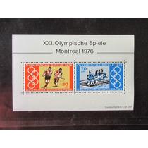 Alemanha Bloco Novo 1976 Olimpiada Montreal Goma