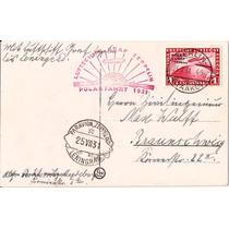Zeppelin-polar Fahrt 1931-postal Circulado Com Selo Polar