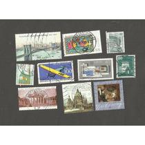 173 - Europa Alemanha - 10 Selos Com Carimbo - Temas