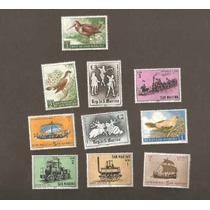 69 - San Marino Monaco - 10 Selos Diferentes, Varios Temas