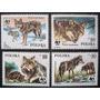 A7000 Polônia - Fauna/ Lobo Yvert Nº 2787/90 Nnn