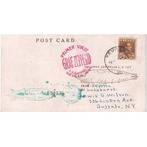 Zeppelin-raro Postal Carimbo 1ºvôo-sevilla-usa-+chegada-1930