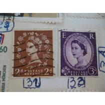 Vendo Raros Selos Ingleses De 2 E 3 Cents,em Excelente Esta