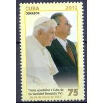 Selo Cuba,visita Papa Bento 16 2012,mint.ver Descrição.