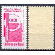 Brasil Selo Aniv.lei De Átomos P/ Des. Marmoriz. 1963,novo.