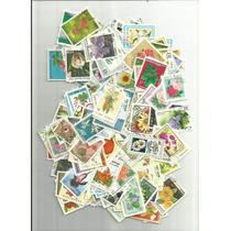 L666-flora/flores - Coleção Com 180 Selos Diferentes - Lindo