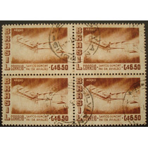 8713 Brasil Aéreo Marmorizado Quadra Selo N 83y Circ