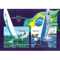 Brasil-bloco 60 -campeao Olimpico De Vela-peça Nova-mint